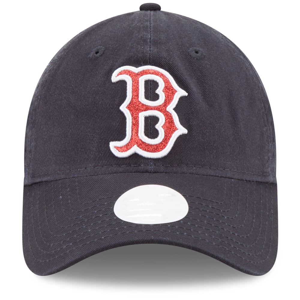 BOSTON RED SOX Women's Team Glisten Baseball Hat - RED