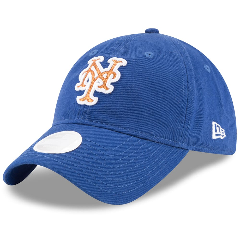 NEW YORK METS Women's Team Glisten Adjustable Hat ONE SIZE