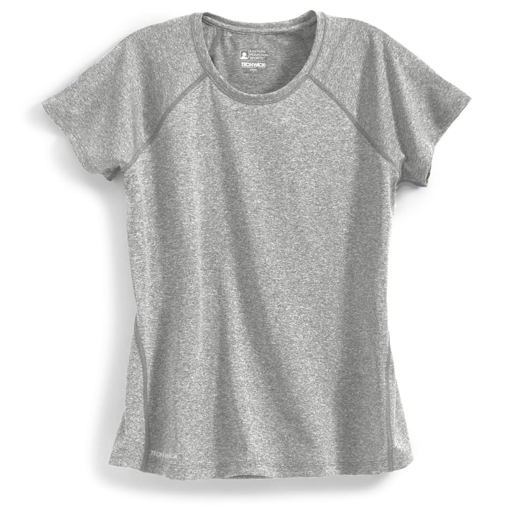 EMS Women's Techwick Essence Crew Short-Sleeve Shirt - NEUTRAL GREY HEATHER