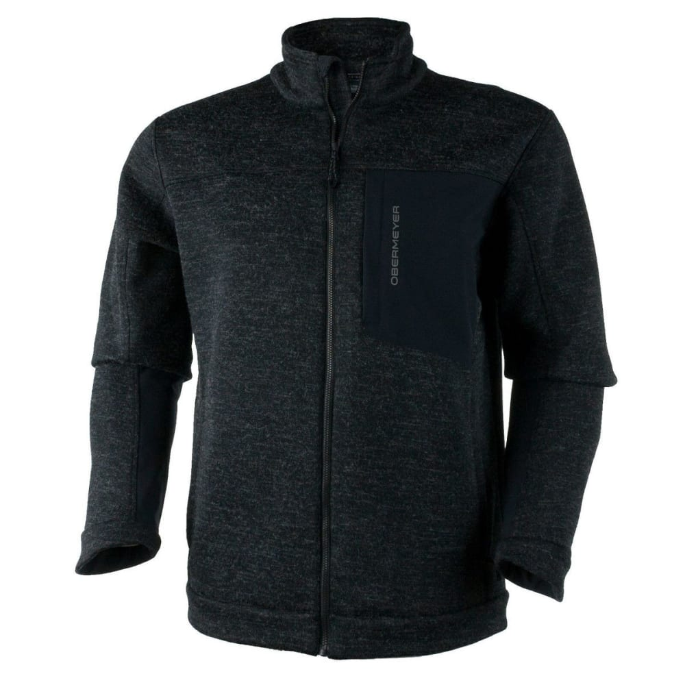 OBERMEYER Men's Gunner Bonded Knit Jacket - BLACK