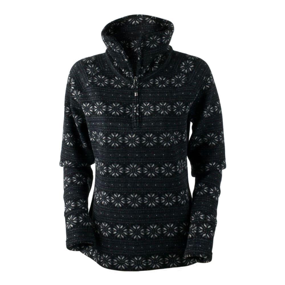 OBERMEYER Women's Brandi Fleece Top - BLACK SNOWFLAKE