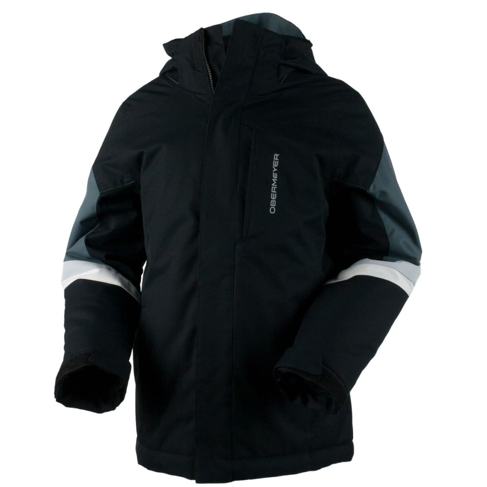 OBERMEYER Boys' Fleet Jacket - BLACK
