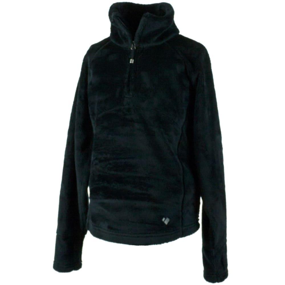 OBERMEYER Girls' Furry Fleece Top - BLACK