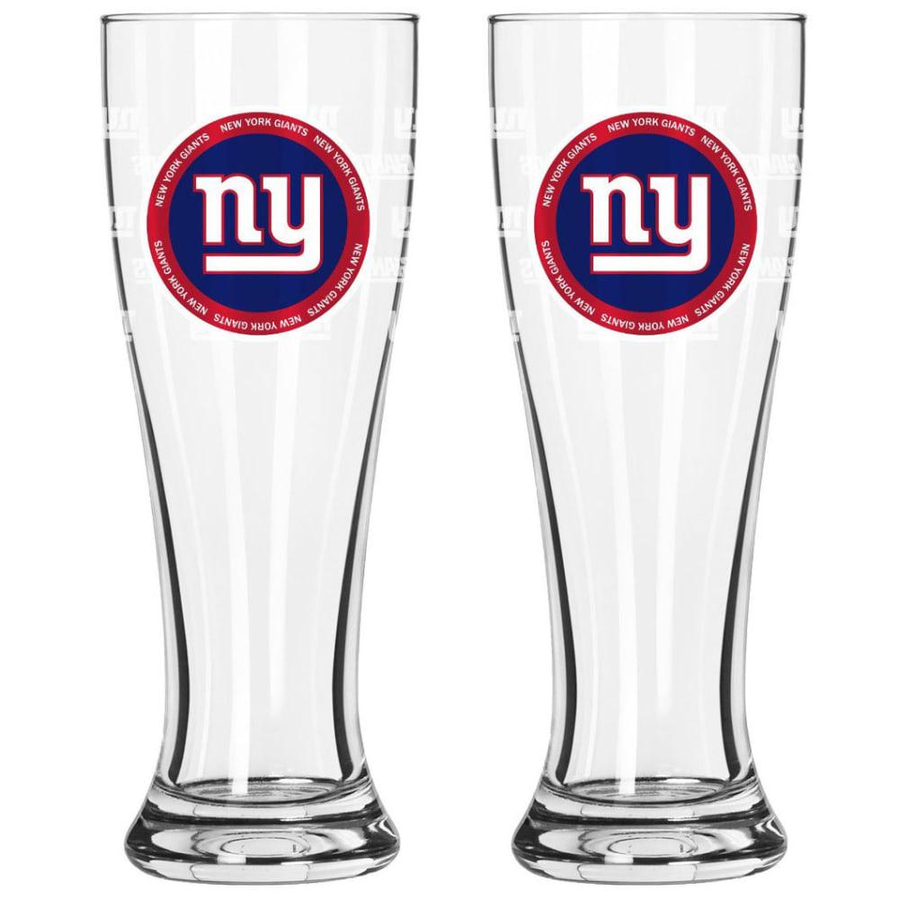 NEW YORK GIANTS 16 oz. Ring of Honor Pilsner Glasses, Pack of 2 - GIANTS