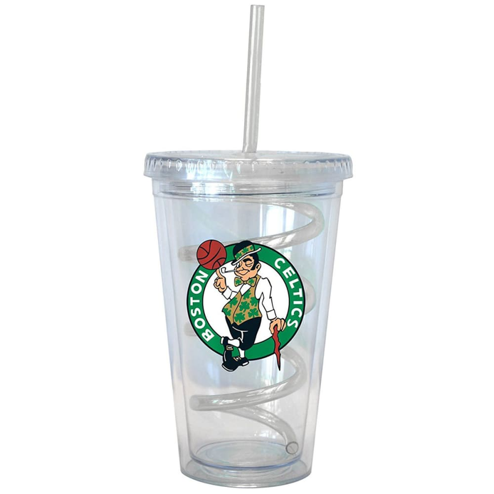 BOSTON CELTICS 16 oz. Tumbler with Swirl Straw - CELTICS