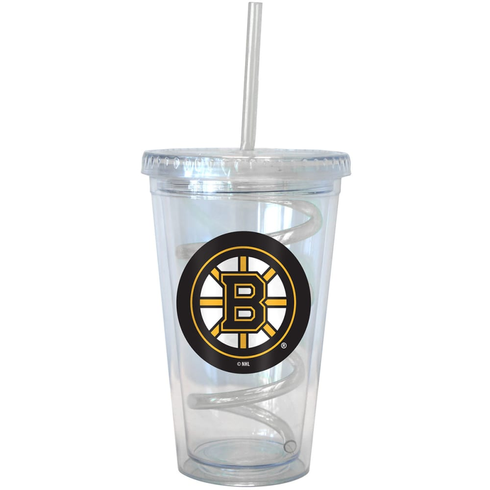 BOSTON BRUINS 16 oz. Tumbler with Swirl Straw - BRUINS