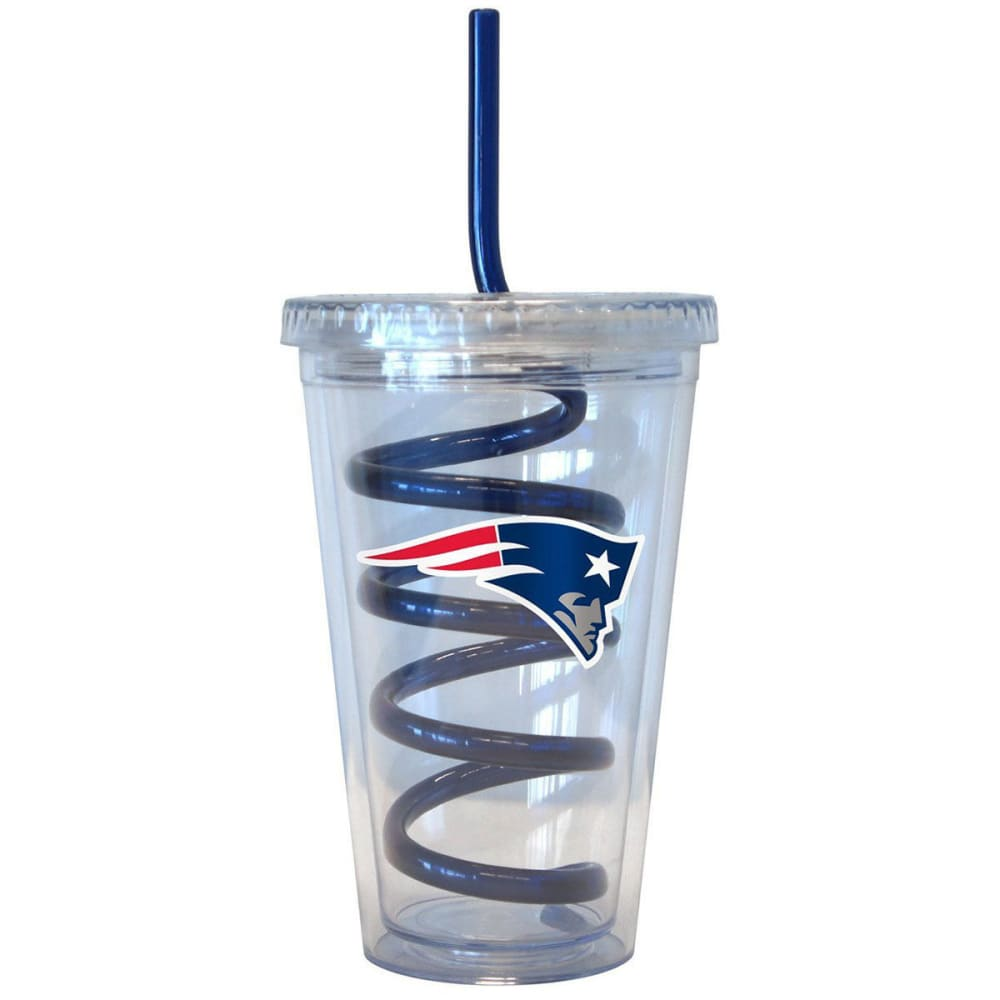 NEW ENGLAND PATRIOTS 16 oz. Tumbler with Swirl Straw - PATRIOTS