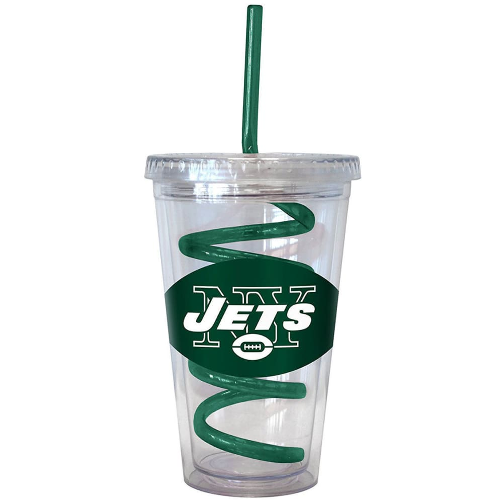 NEW YORK JETS 16 oz. Tumbler with Swirl Straw - JETS