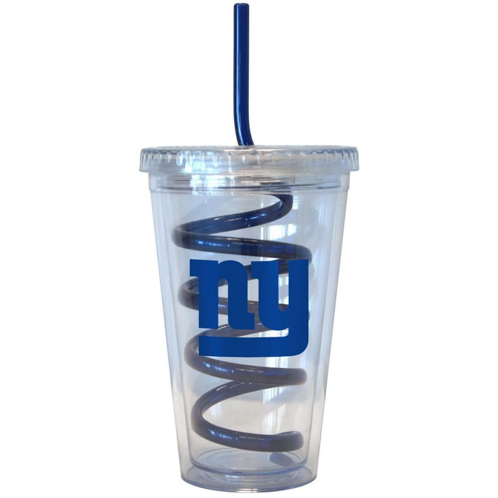 NEW YORK GIANTS 16 oz. Tumbler with Swirl Straw - GIANTS