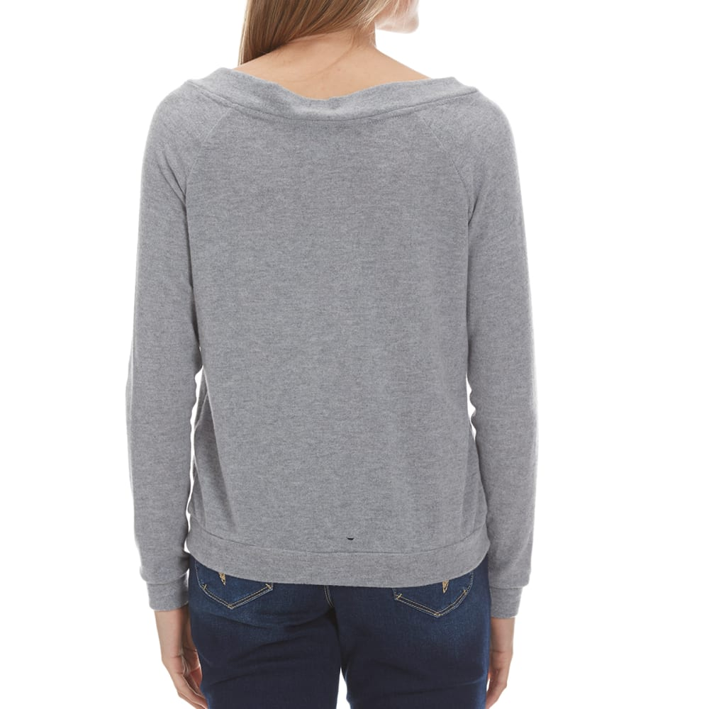 POOF Juniors' I Know Him Pullover - HEATHER GREY