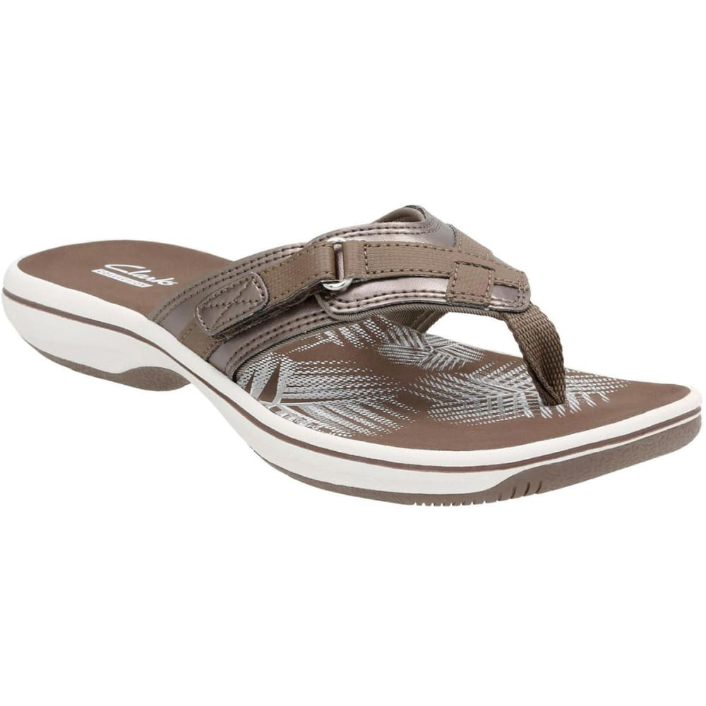CLARKS Women's Breeze Sea Sandals - PEWTER