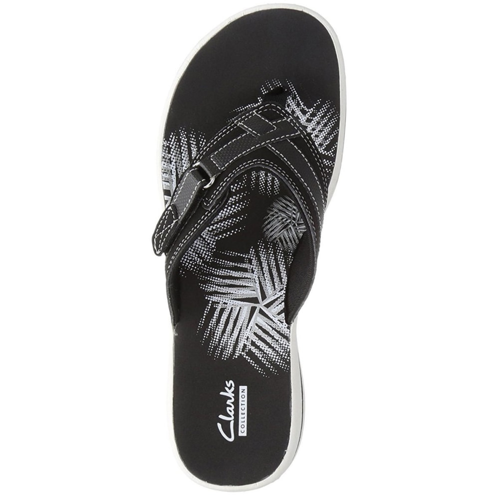 CLARKS Women's Breeze Sea Flip Flops - BLACK