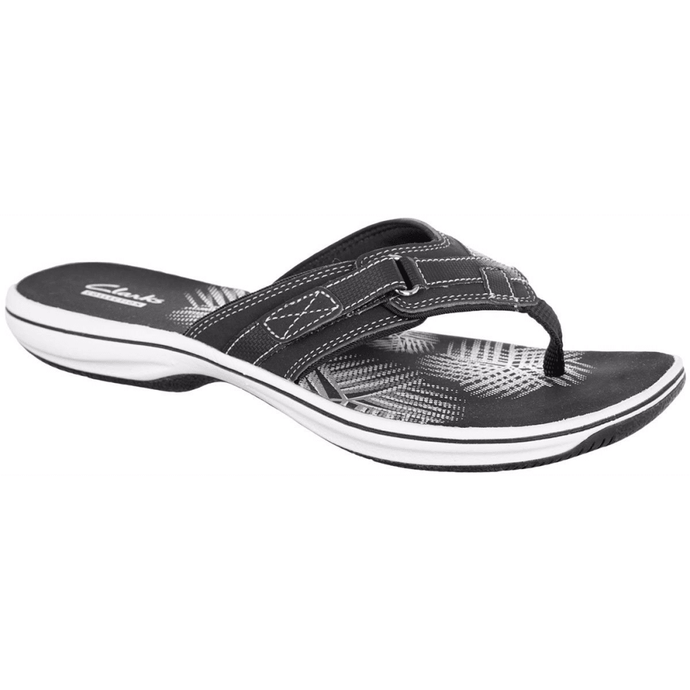 Clarks Women's Breeze Sea Flip Flops - Black, 6