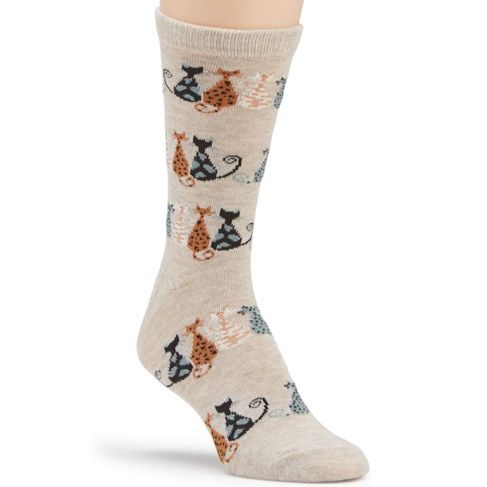 K. BELL Women's Cat Tail Crew Socks - NOVELTY