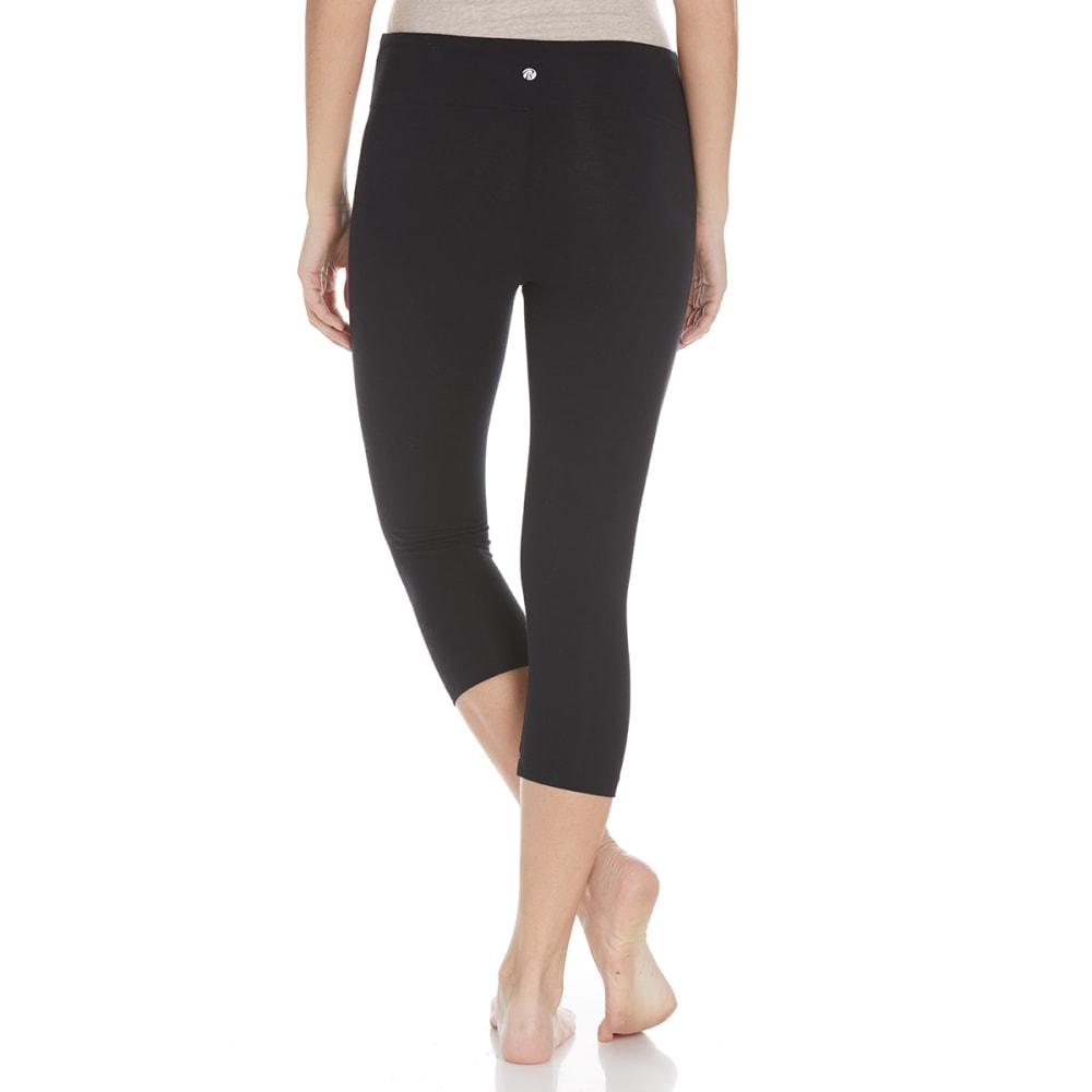 BALLY Women's Flat Waist Capri Leggings - BLACK-001