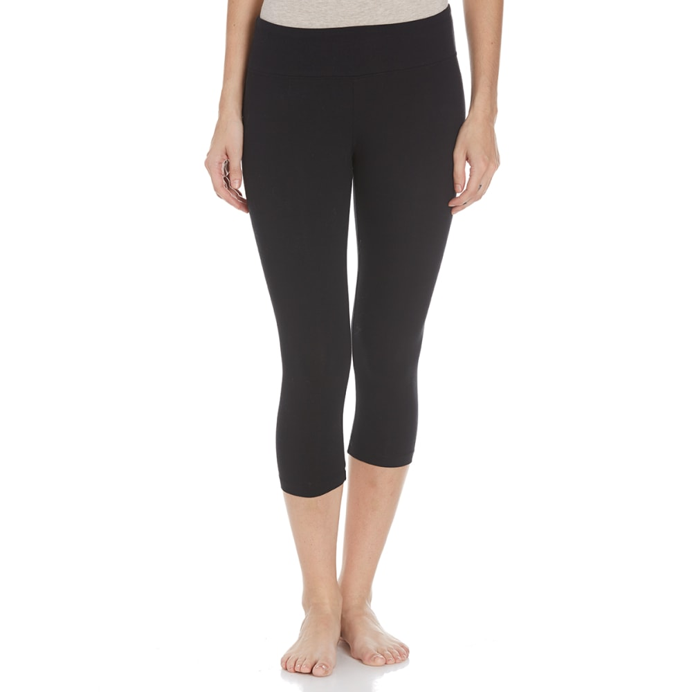 BALLY Women's Flat Waist Capri Leggings - BLACK-001