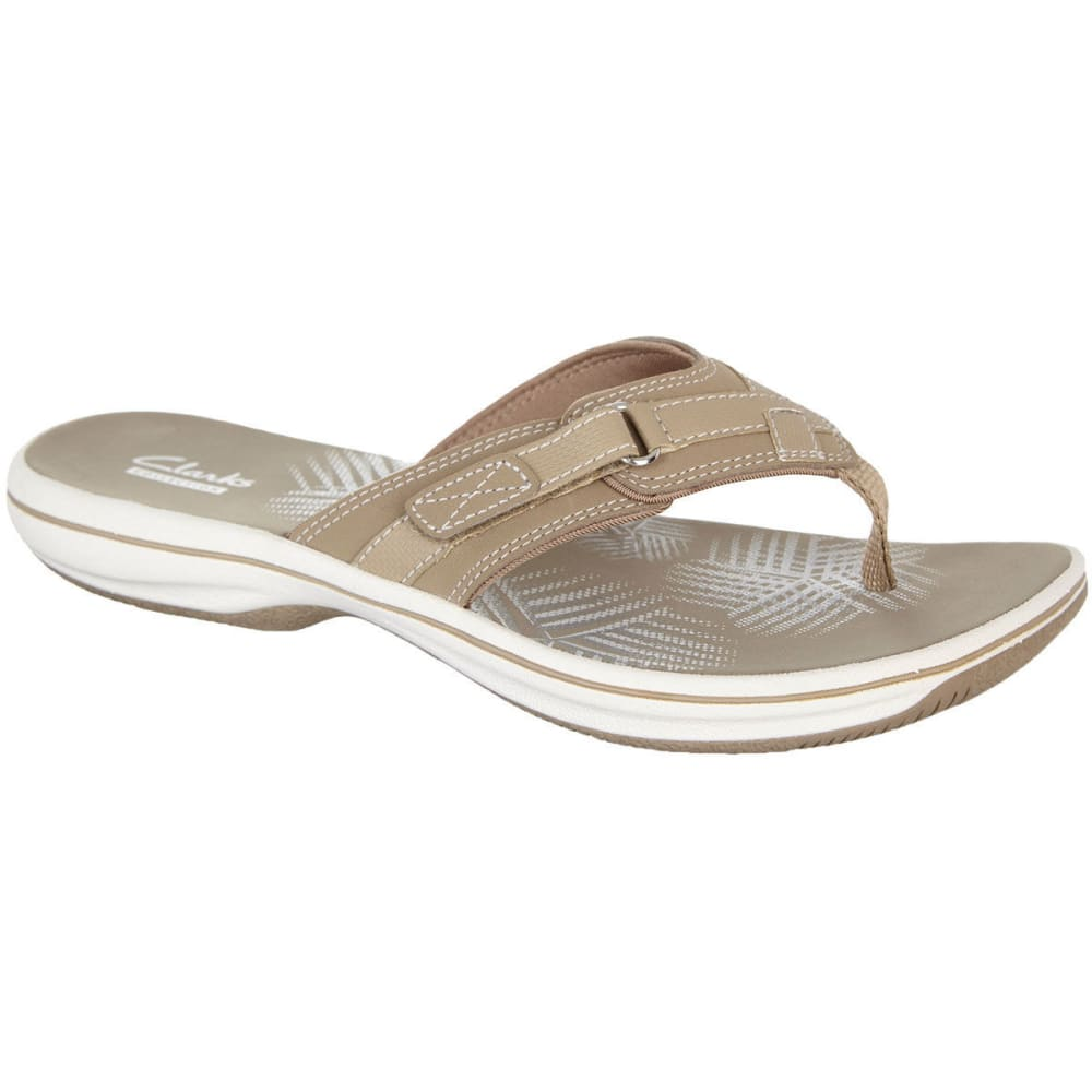CLARKS Women's Sea Breeze Flip Flops - GREYSTONE
