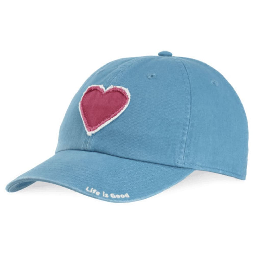 LIFE IS GOOD Women's Tattered Heart Chill Cap - DENIM BLUE