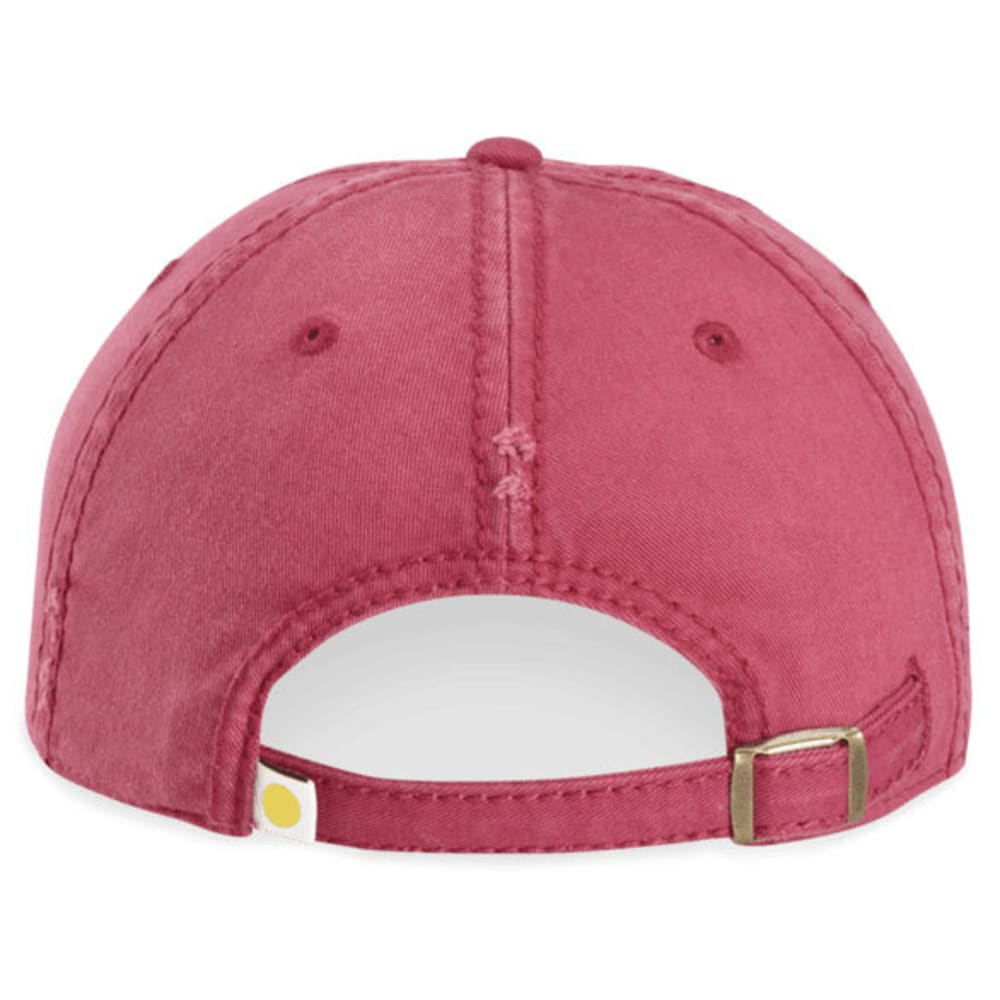 LIFE IS GOOD Women's Good Vibes Heart Sunwashed Chill Cap - ROSE BERRY