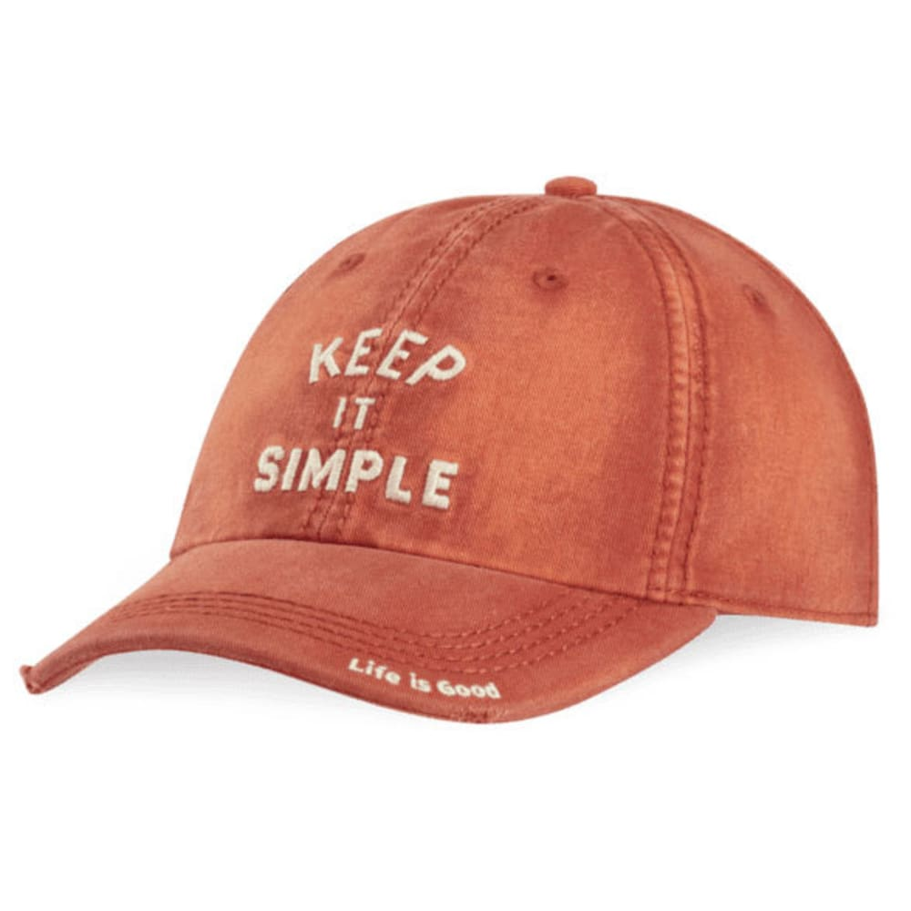 LIFE IS GOOD Keep It Simple Arch Sunwashed Chill Cap - EARTHY RUST