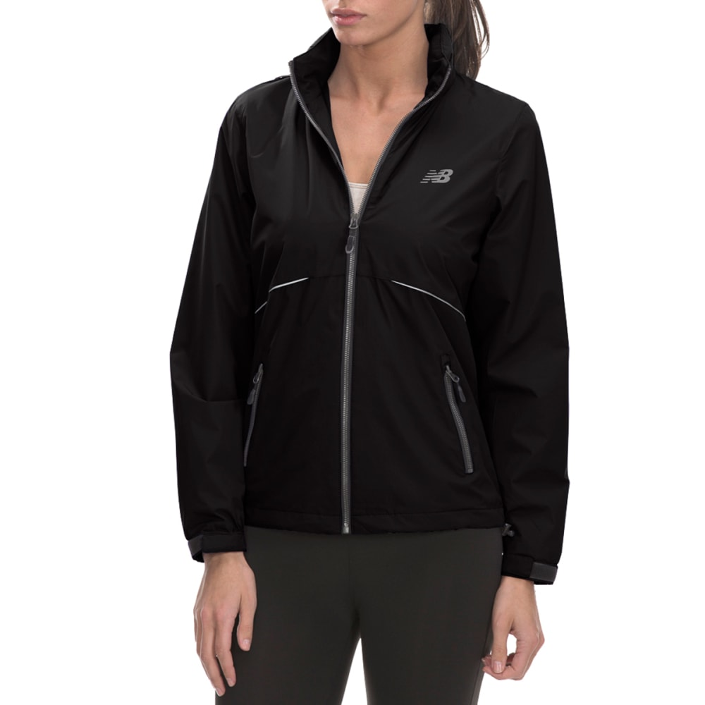 NEW BALANCE Women's Poly Dobby Mock Neck Jacket - BLACK-BK001