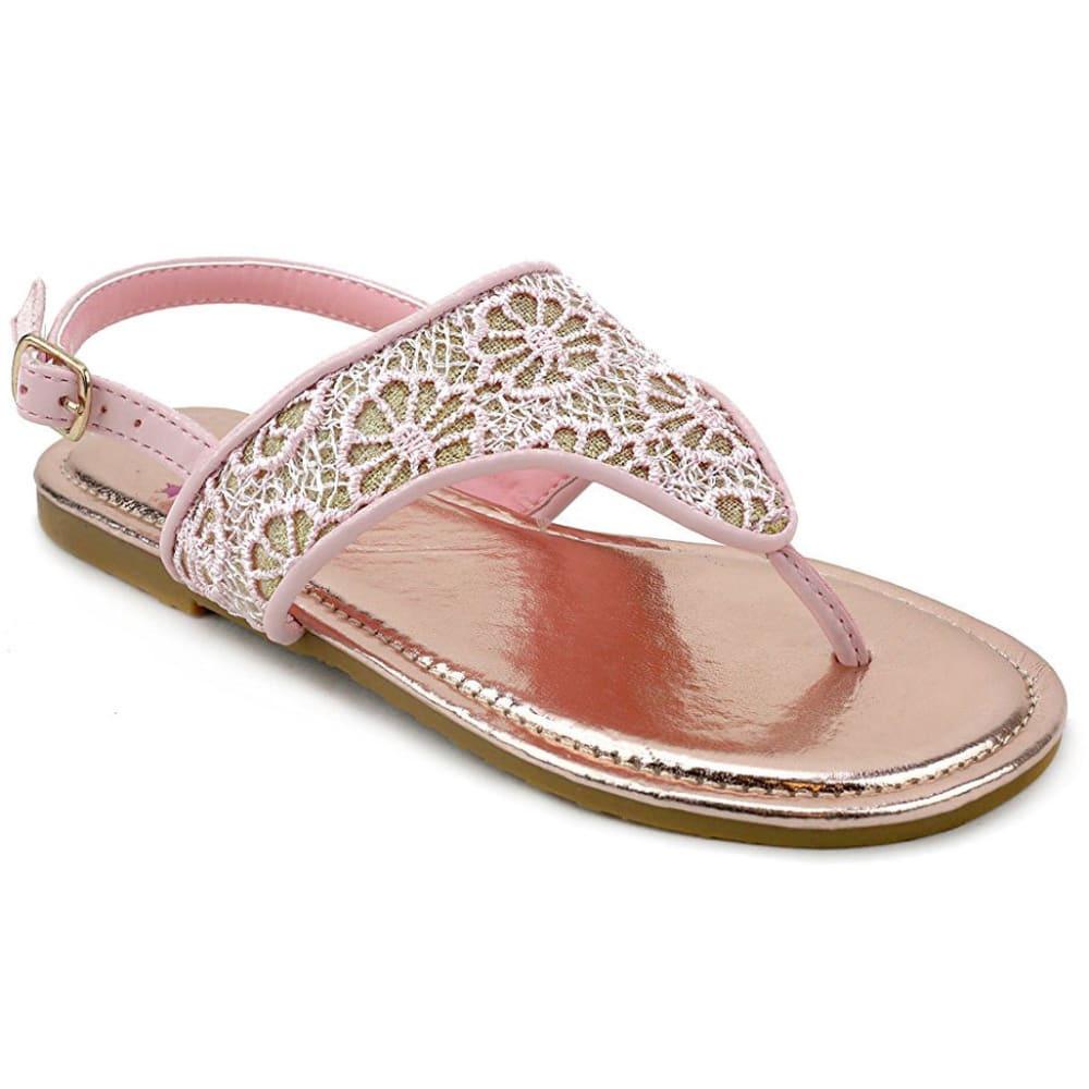 OLIVIA MILLER Girls' OMG Pink Crochet Hooded Sandals - PINK