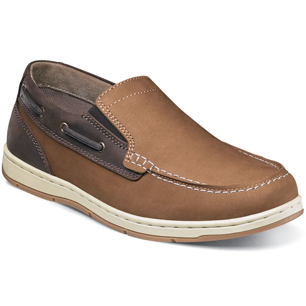 NUNN BUSH Men's Sloop Slip-On Boat Shoes, Camel/Brown - CAMEL/BROWN