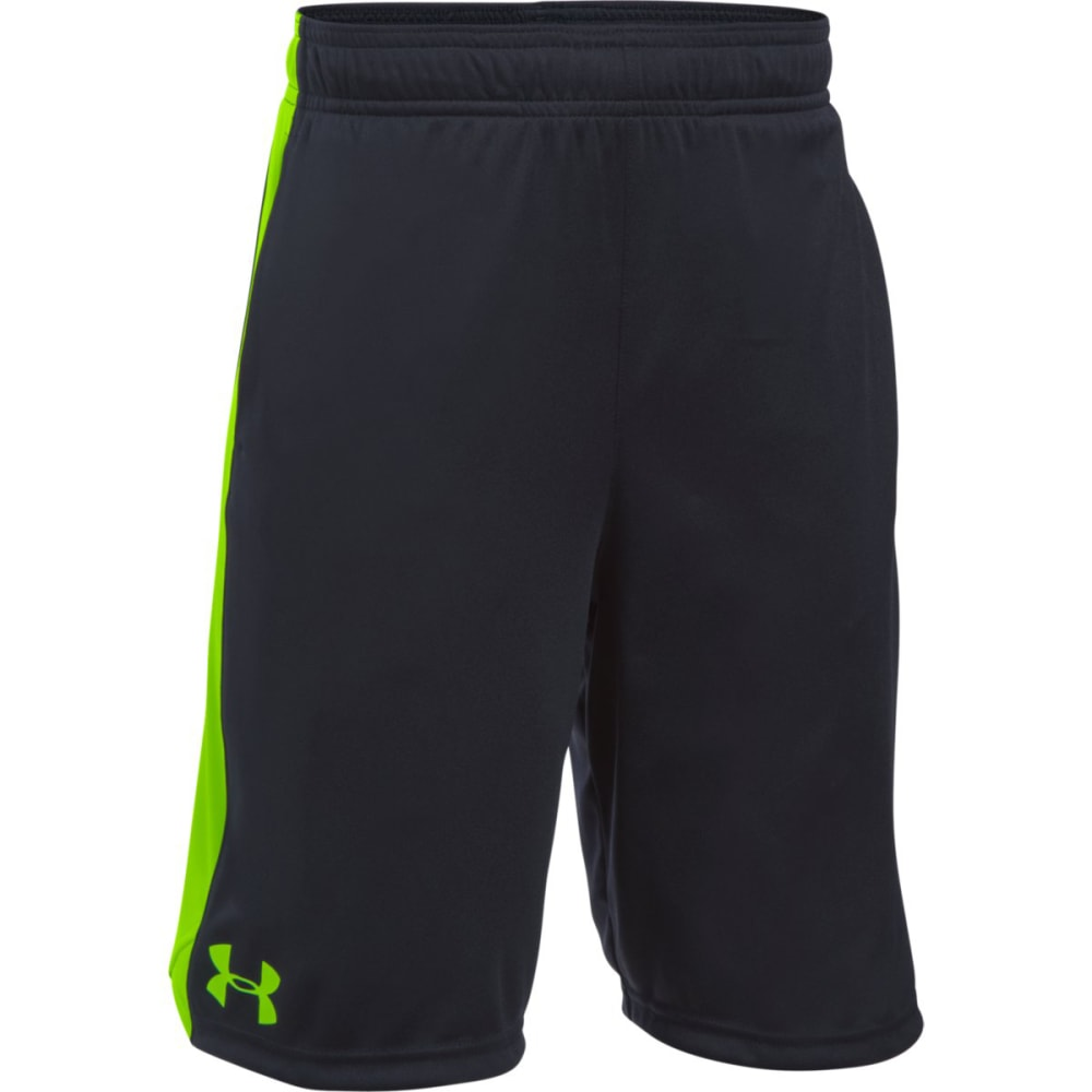 UNDER ARMOUR Boys' Eliminator Shorts - 002-BLACK/FUEL GREEN