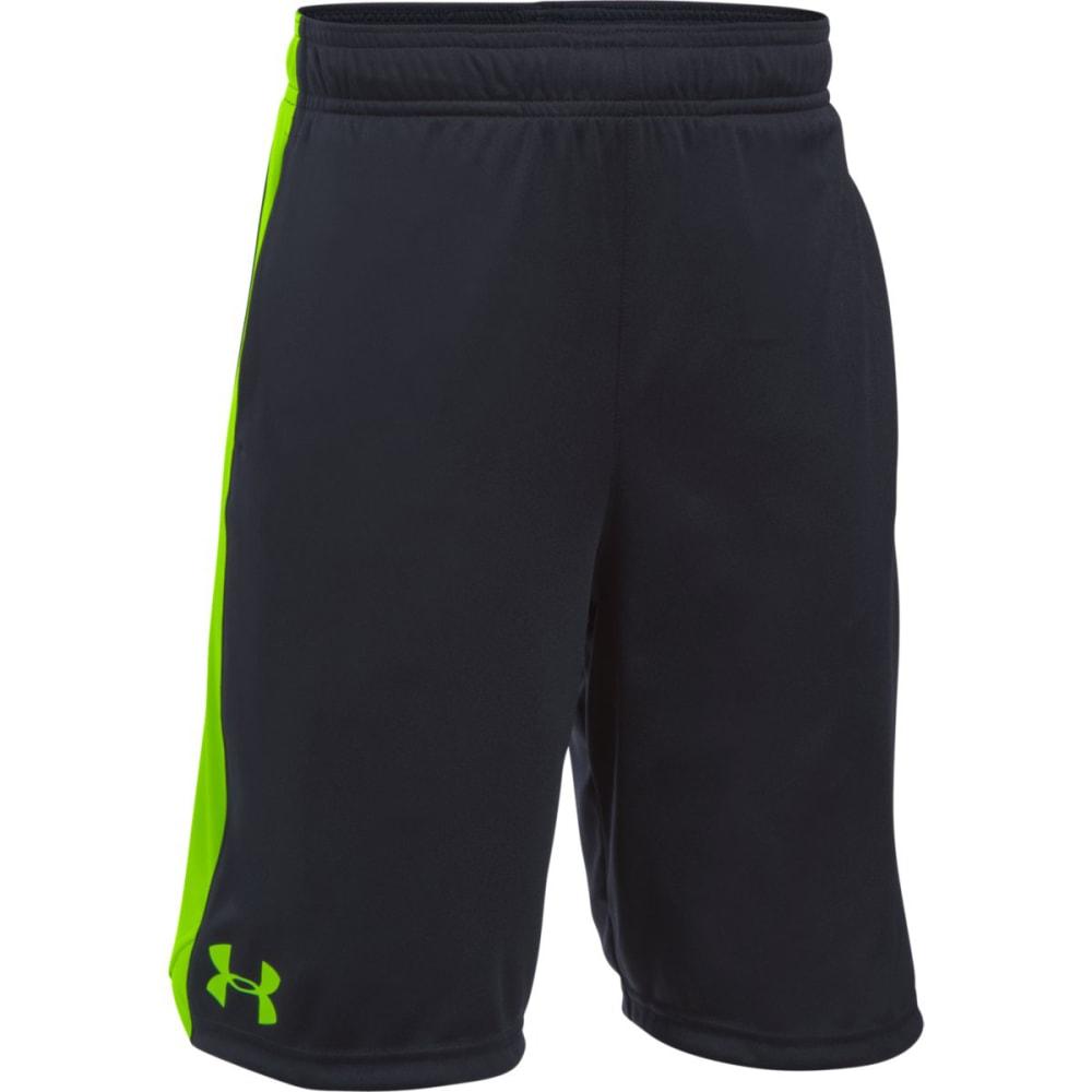 UNDER ARMOUR Boys' Eliminator Shorts - 002-BLACK/FUEL GREEN