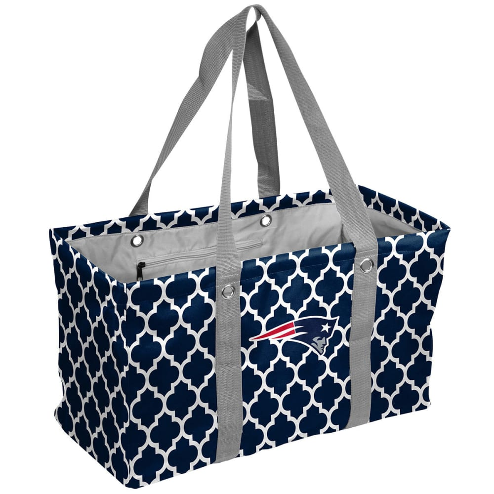 NEW ENGLAND PATRIOTS Quatrefoil Picnic Caddy Tote ONE SIZE