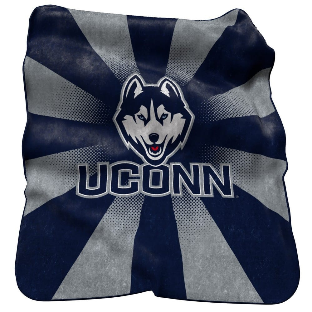 UCONN Raschel Throw Blanket - BLUE