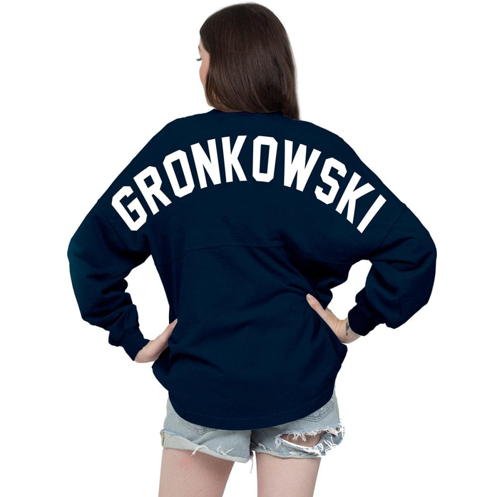 NEW ENGLAND PATRIOTS Women's Gronkowski 87 Spirit Jersey - NAVY