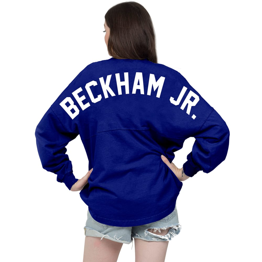 NEW YORK GIANTS Women's Beckham Jr. 13 Spirit Crew Neck Jersey - ROYAL