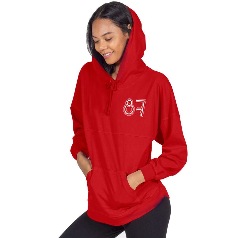 NEW ENGLAND PATRIOTS Women's Gronkowski Hooded Spirit Jersey - RED