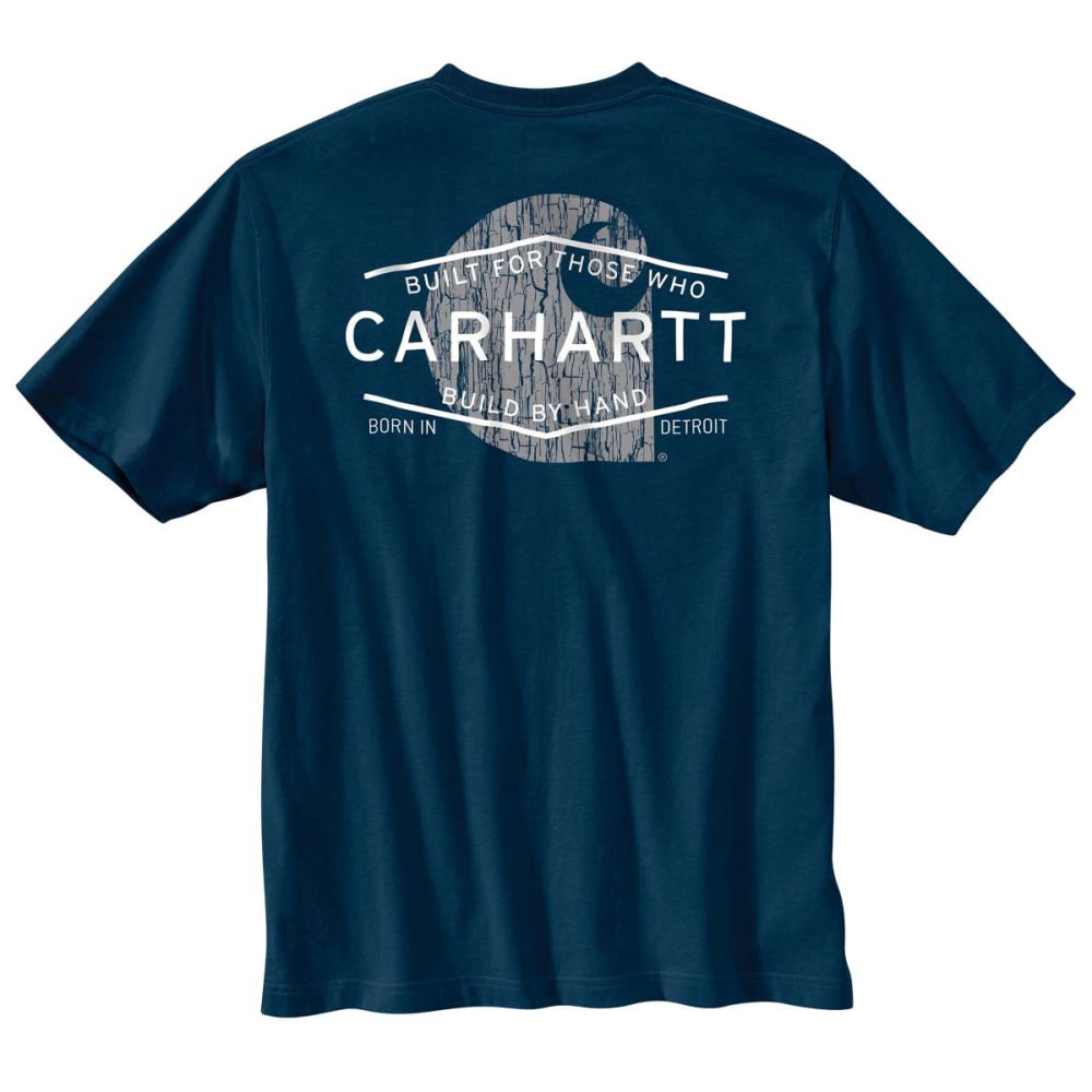 CARHARTT Men's Graphic Branded C Pocket Short Sleeve T-shirt - NAVY-412