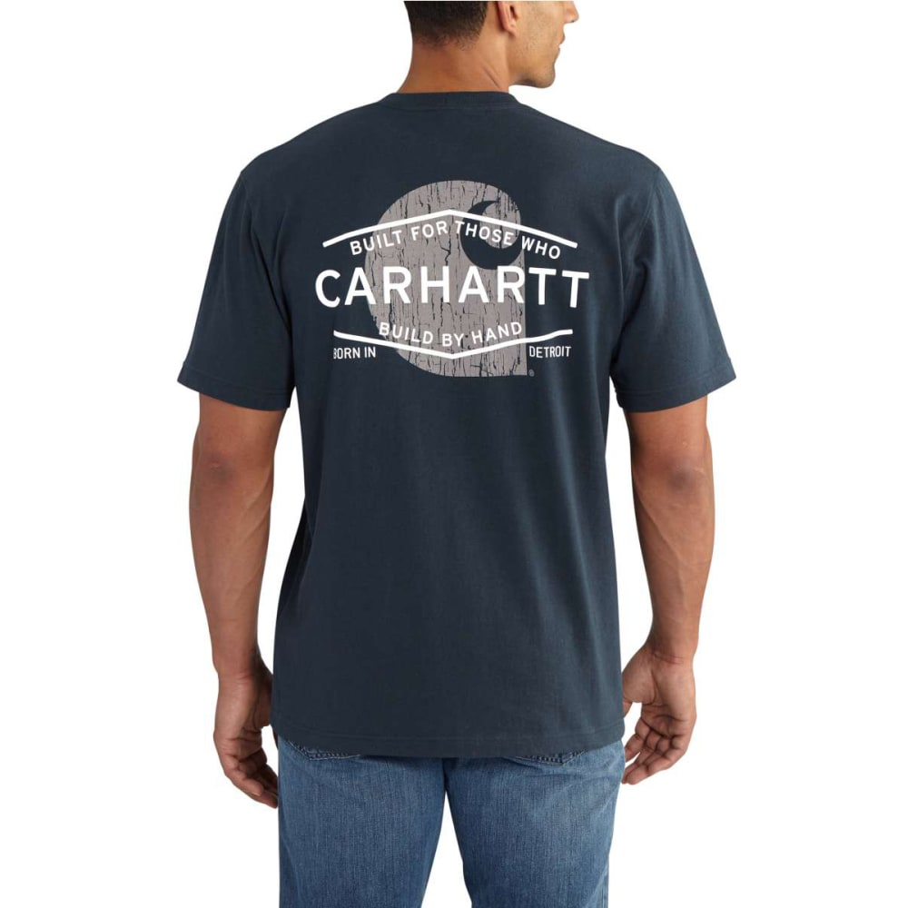 Carhartt Men's Graphic Branded C Pocket Short Sleeve T-Shirt - Blue, M