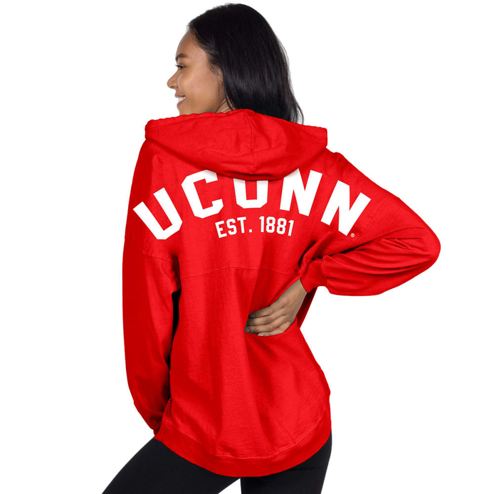Uconn Women's Hooded Spirit Jersey - Red, L