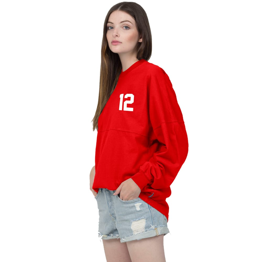 NEW ENGLAND PATRIOTS Women's Tom Brady 12 Spirit Jersey - RED
