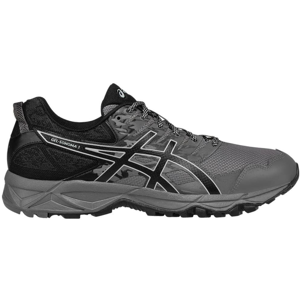 ASICS Men's GEL-Sonoma 3 Trail Running Shoes, Carbon, Wide 8
