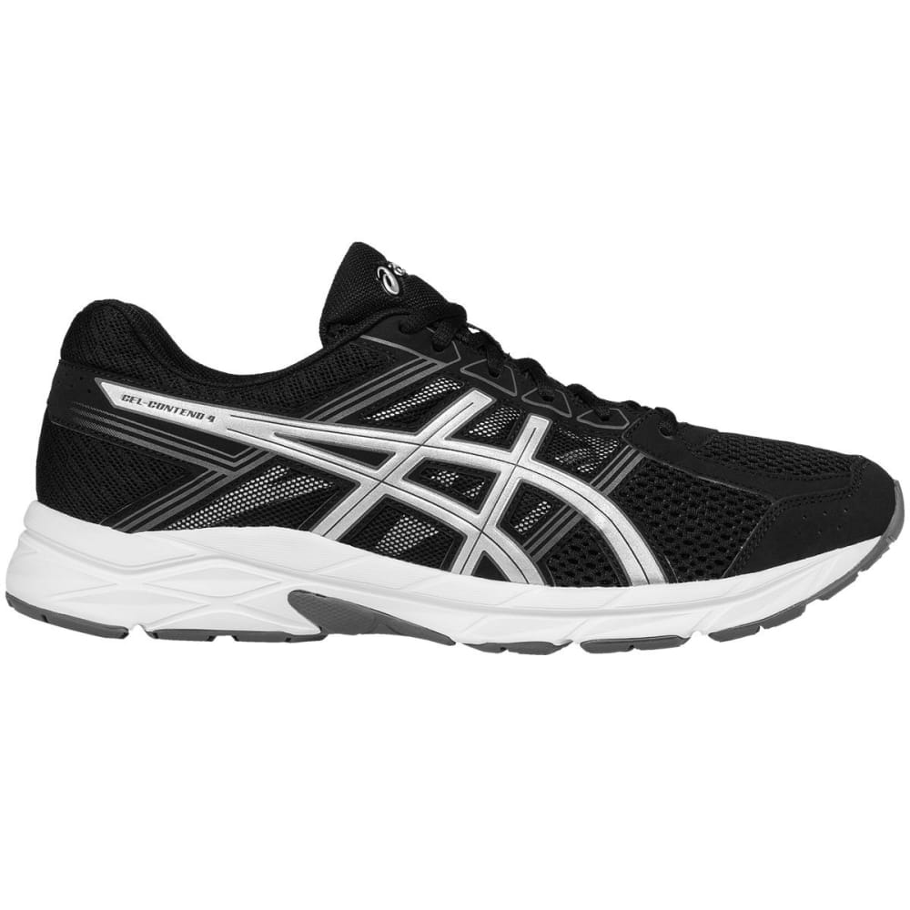 ASICS Men's GEL-Contend 4 Running Shoes, Black - BLACK/SILVER-9093