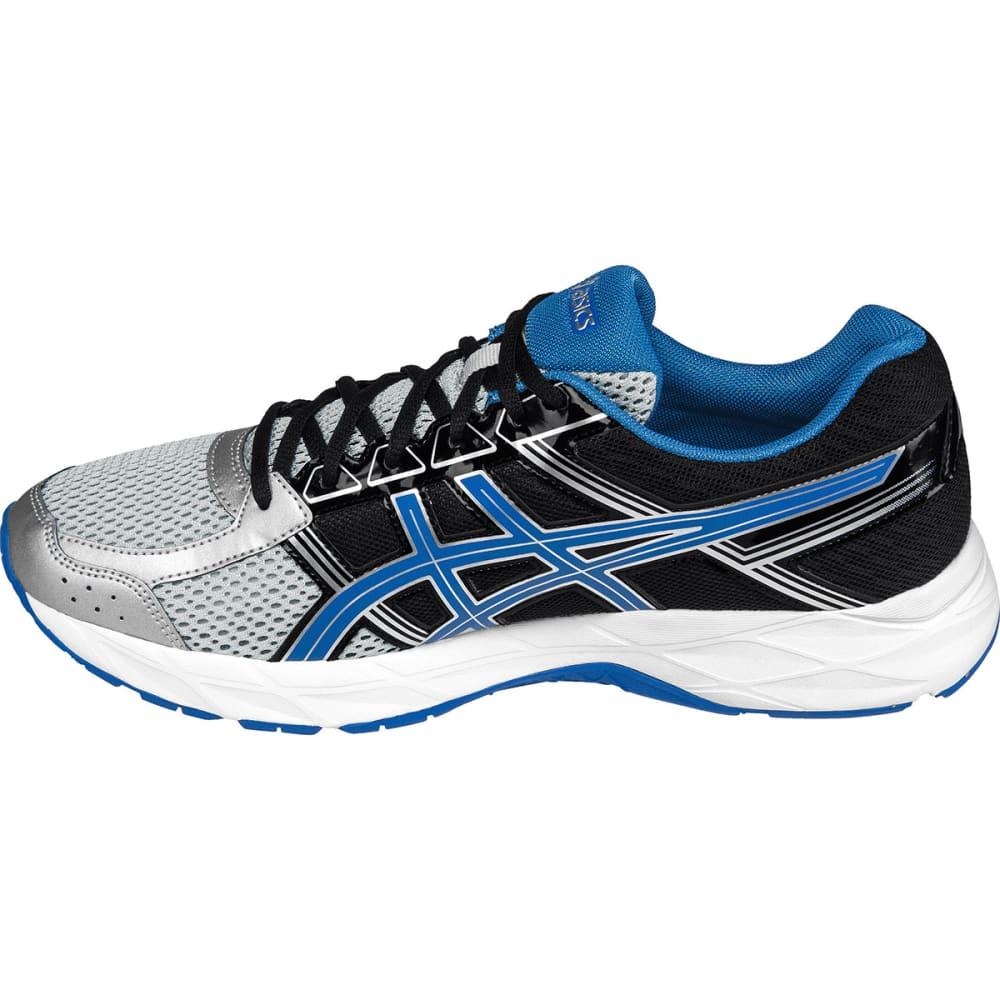 ASICS Men's GEL-Contend 4 Running Shoes, Black - SILVER/BLUE-9342