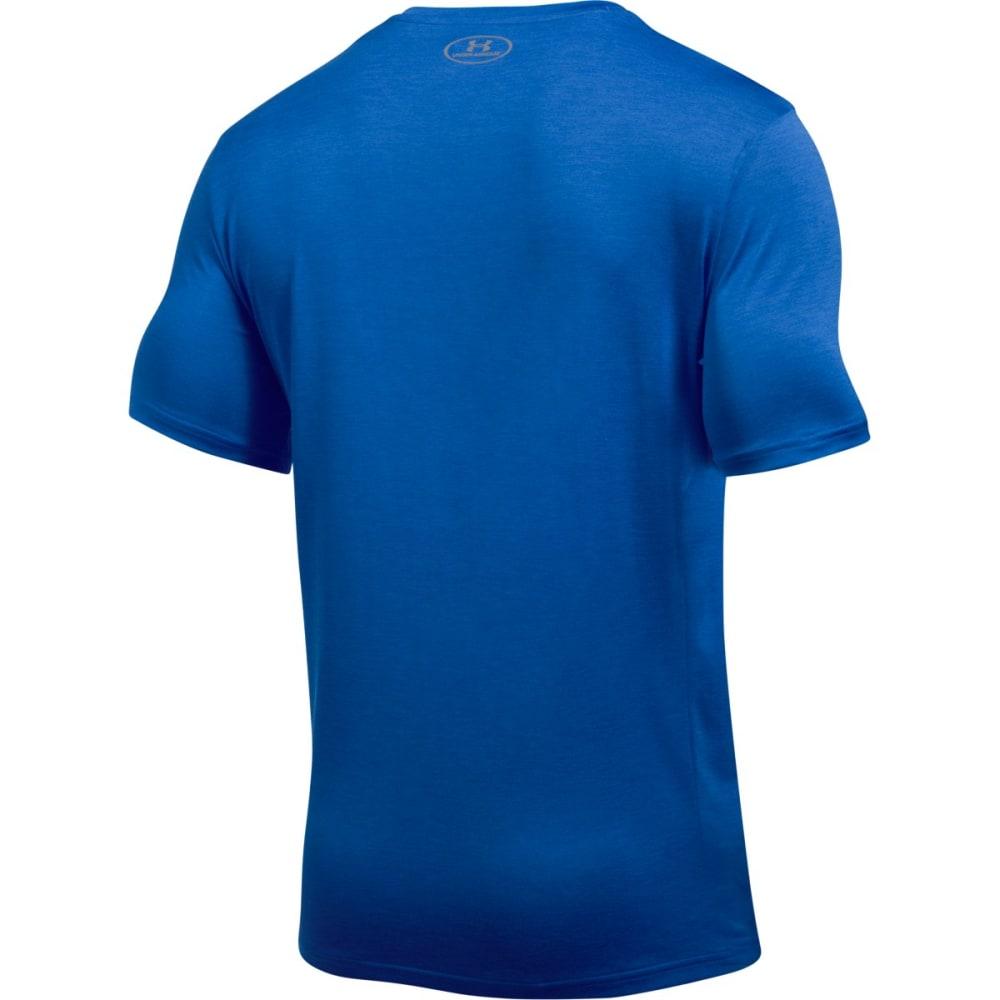 UNDER ARMOUR Men's Overlap Twist Short Sleeve Tee - BLUE MARKER-789