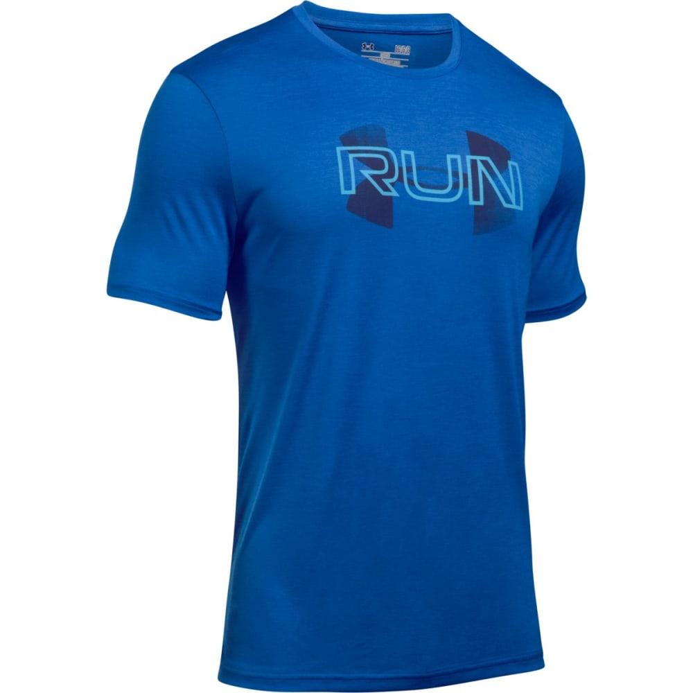 UNDER ARMOUR Men's Overlap Twist Short Sleeve Tee - BLUE MARKER-789