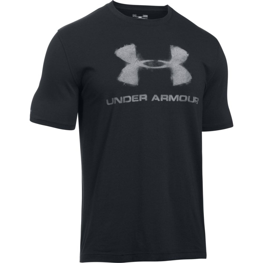 UNDER ARMOUR Men's Chalked Logo T-Shirt - BLK/WHT-001
