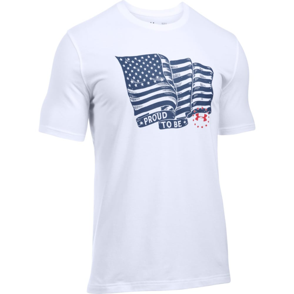 UNDER ARMOUR Men's Freedom Proud American Short-Sleeve Tee - WHITE/RED-100