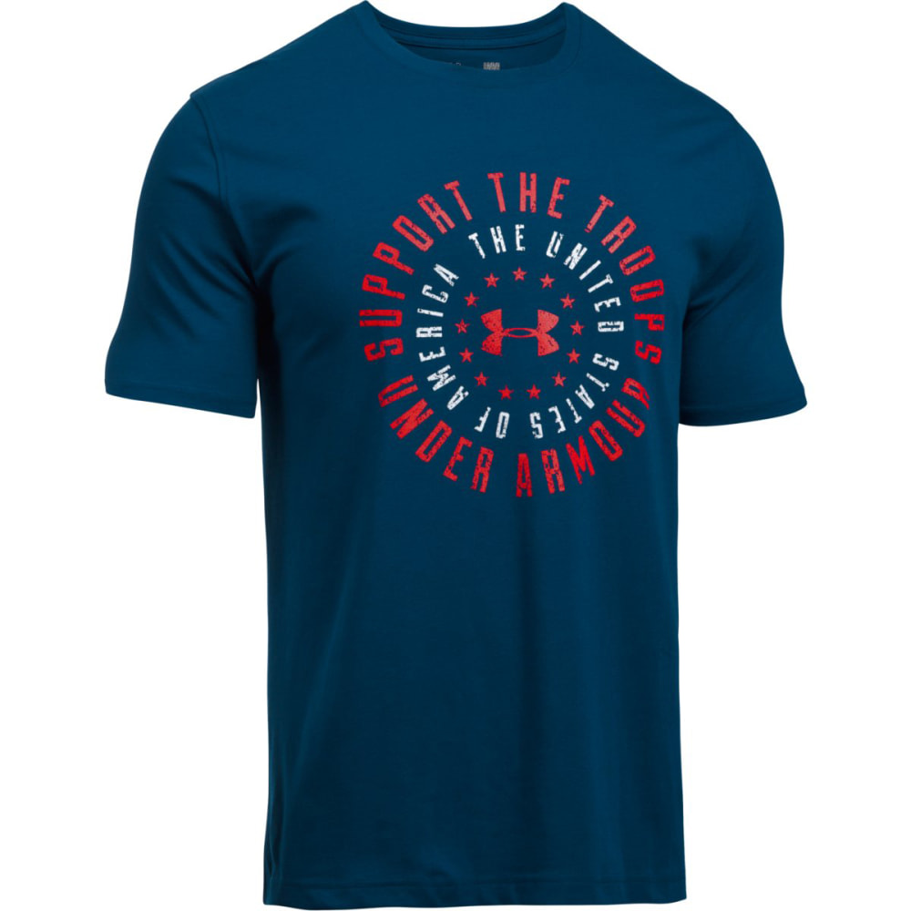 UNDER ARMOUR Men's Freedom Support The Troops Short-Sleeve Tee - BLACKOUT NVY/WHT-997
