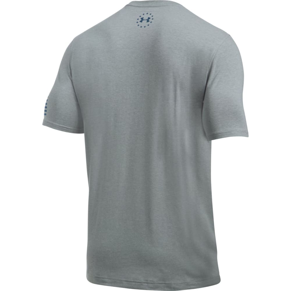 UNDER ARMOUR Men's Freedom Short-Sleeve Tee - TGH/BLACKOUT NVY-026