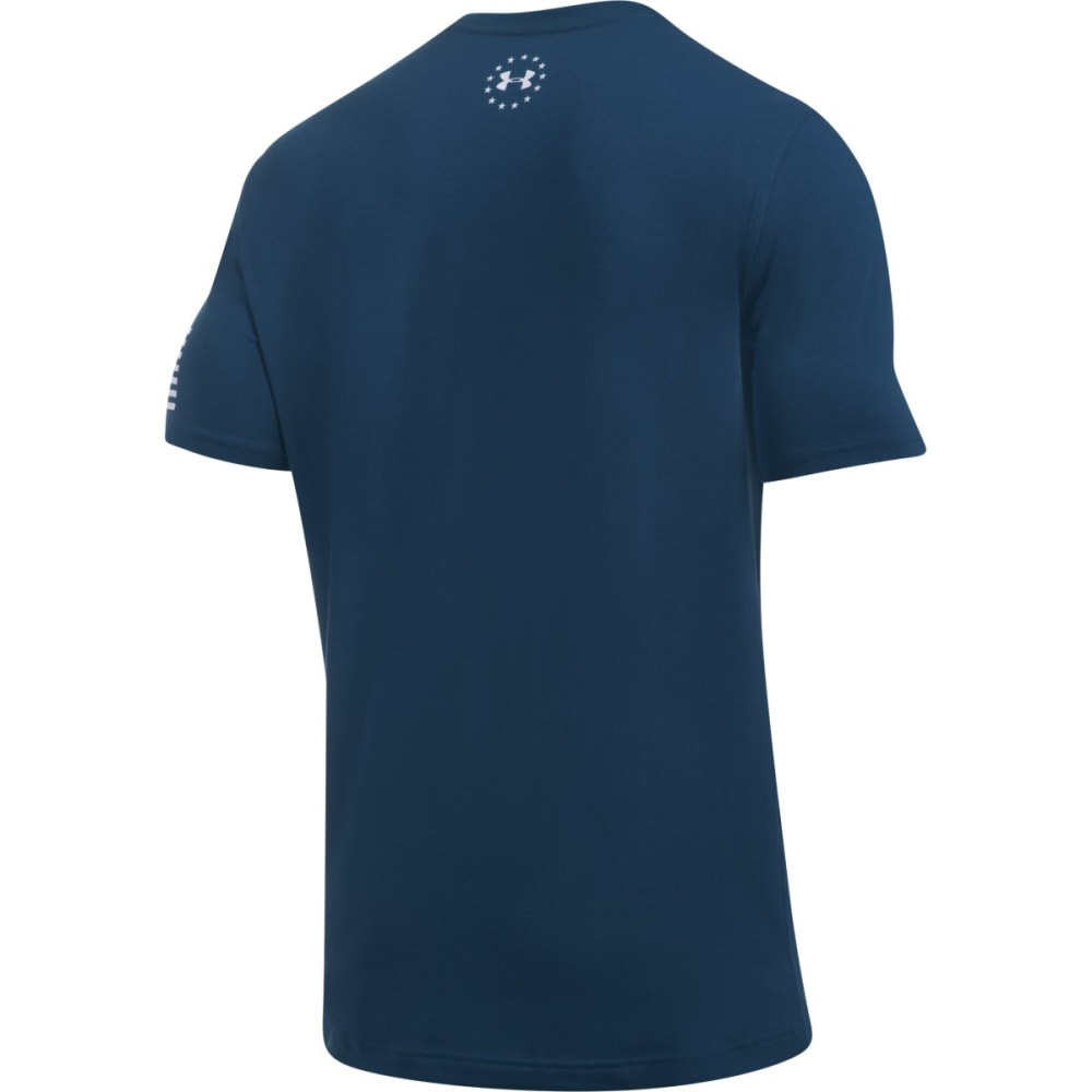 UNDER ARMOUR Men's Freedom Short-Sleeve Tee - BLACKOUT NVY/WHT-997
