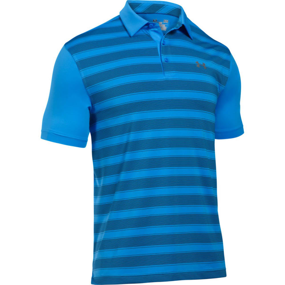 UNDER ARMOUR Men's Flagstick Stripe Polo Short-Sleeve Shirt L
