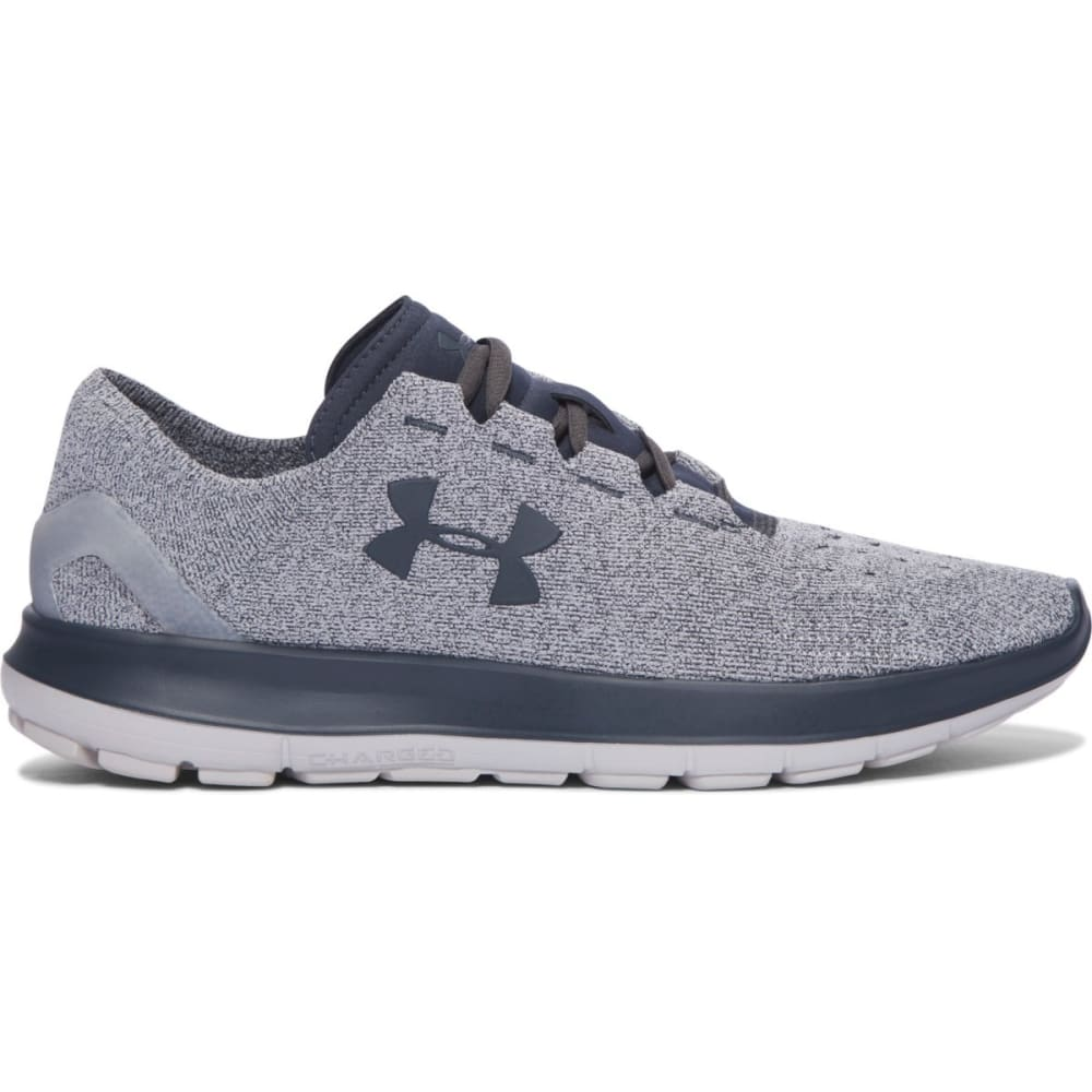 UNDER ARMOUR Men's UA SpeedForm Slingride Running Shoes, Glacier Grey/Stealth Grey - GREY
